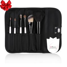 DUcare 6 Piece Makeup Brush Set with Black Classic Cosmetic Bag -- Details can be found by clicking on the image. (This is an affiliate link) Cosmetic Brush Set, Makeup Brush Set, Cosmetic Bag, Mac Makeup Brushes, It Cosmetics Brushes, It Cosmetics Concealer, Sephora Makeup, Brush Sets, Makeup Tools