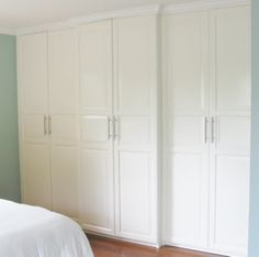 ikea built-in closets in all the rooms. More Storage = Beautiful Home