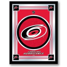 Carolina Hurricanes NHL Logo Mirror