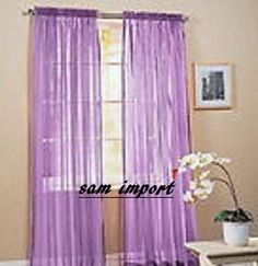1 Pcs Sheer Voile Window Panel Curtains 20 Different Colors Brand New Curtian | eBay
