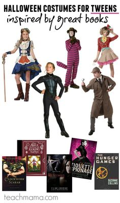 Halloween is just around the corner? Looking for Halloween costume ideas? These cool halloween costumes for tweens are costumes that are inspired by great books! #teachmama #halloween #tweens #halloweencostume #books #holiday