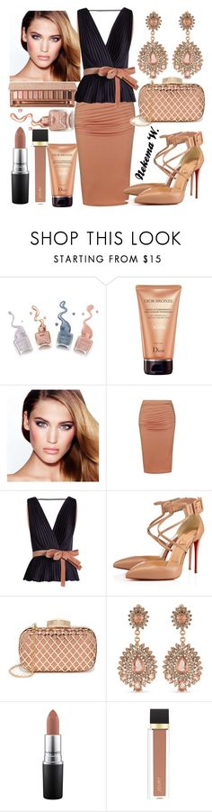 """Wednesday Work Wear👓💼"" by sexyshonda ❤ liked on Polyvore featuring Christian Dior, Charlotte Tilbury, Ally Fashion, Roksanda, Christian Louboutin, Carolee, MAC Cosmetics, Jouer and Urban Decay"
