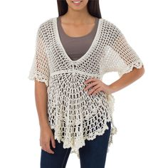 Handcrafted Pima Cotton 'Arequipa Dancer' Top (Peru) by Novica