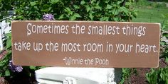 Classic Pooh Distressed Wood Sign Sometimes the by primsnposies, $18.00