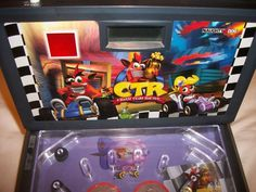 CTR Crash Team Racing Sony Crash Bandicoot Electronic Pinball Machine w/manual
