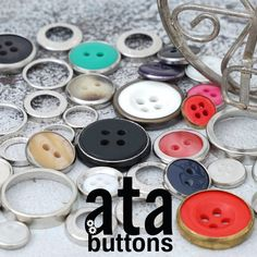 Brass rings are used to frame polyester buttons and can be montaged together with fastening buttons and spring snap buttons.   #snapbutton #fashionaccesories #caps #madeinturkey #atabuttons #garmentaccessories #denim #jeanbuttons #eyelet #jeans #jeansbutton #snap #prongsnap