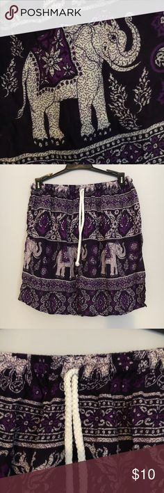 Purple Thai Shorts Purchased in Thailand. They say size 1 on it, but it doesn't mean in terms of US pant sizes. This would comfortably fit a size small or medium. Never worn Shorts