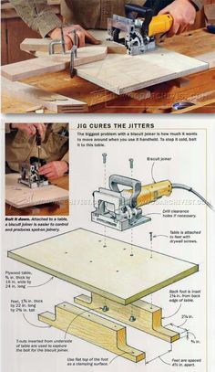 Biscuit Joiner Techniques - Biscuit Joiner Tips, Jigs and Fixtures | WoodArchivist.com