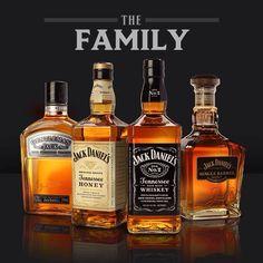 My family,  gentleman, honey, black label,  and single barrel