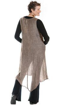 Mesh Linen Asymmetric Sleeveless Long Dress
