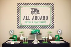 Choo-Choo Train Party by Paige Simple - love the clean, classic look!