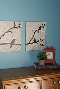 Bird silhouette art diy sheet music 40 ideas for 2019 Bird Silhouette Art, Simple Artwork, Bird Wall Art, Paper Crafts, Diy Crafts, Pretty Birds, Crafty Craft, Diy Projects To Try, So Little Time