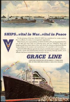 Grace Lines - 1945 ad
