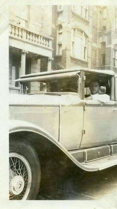 Sam Giancana in his car. Late 1930's.