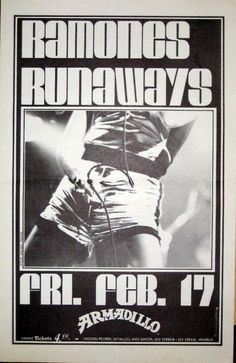 The Ramones and The Runaways | 35 Old Punk Flyers That Prove Punk Used To Be So Cool