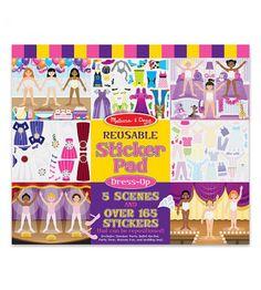 Reusable sticker pad: Dress-up
