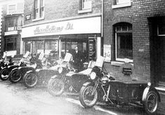 Shovelbottoms Ltd Motorcycle Garage Birmingham Birmingham City Centre, Birmingham Uk, British Motorcycles, Vintage Motorcycles, Hull England, Motorcycle Garage, Old Bikes, West Midlands, Places To Visit