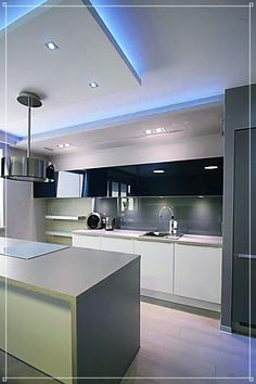 Ideas Cocinas Modernas Muebles Altos T Art Ofertaml Zdjęcie Od Loft Art Izabela Luxury Kitchen Design, Design Your Kitchen, Luxury Kitchens, Home Kitchens, Home Decor Kitchen, Kitchen Interior, New Kitchen, Kitchen Modern, Kitchen Lamps
