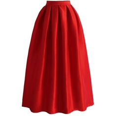 Chicwish La Diva Pleated Maxi Full Skirt in Red and other apparel, accessories and trends. Browse and shop 18 related looks.