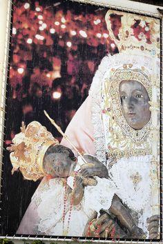Virgen de Candelaria, Nuestra Señora de la Candelaria.  She is the patron saint of the Canary Islands.