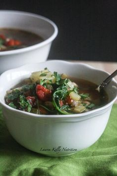 Quinoa Vegetable Soup | Lauren Kelly Nutrition -- Not much flavor. Don't bother making again.