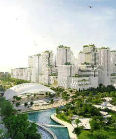 URA unveils Masterplan for Jurong Lake District Singapore Lake District, New District, Central Business District, Dp Architects, Zaha Hadid Architects, Environment Design, Built Environment, Living Environment, Sustainable Architecture
