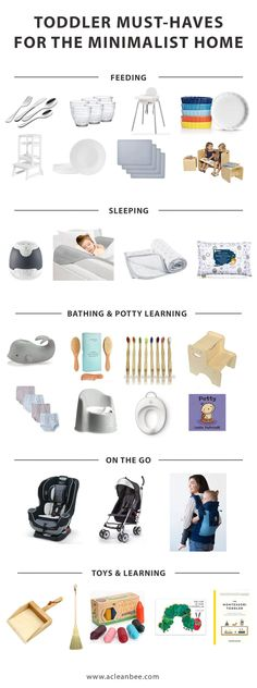 Toddler Must Haves for the Minimalist Mom via Minimalist Baths, Minimalist Kids, Minimalist Lifestyle, Baby Items Must Have, Learning Tower, Toddler Stuff, Bath Toys, Toddler Learning, Baby Needs