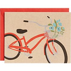 love this bike art Bicycle with Basket Stationery - Paper Source Vintage Christmas Cards, Vintage Cards, Holiday Cards, Stationery Store, Stationery Paper, Bicycle Holiday, Paper Source, Bike Art, Custom Greeting Cards