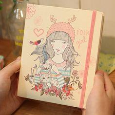 Cuaderno de notas Lady Desidia 06 - Milimetrado - Folk Girl        PRECIO15,00 €