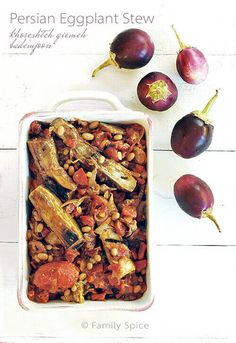 Persian Eggplant Stew (khoreshteh qiemeh bademjoon) is a classic Persian stew made with fresh eggplant and tomatoes.