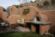 The Sorenson Family Wood Fired Brick Pizza Oven in Albuquerque. This oven was built using the Mattone Barile Grande foam oven form.  BrickWoodOvens.com