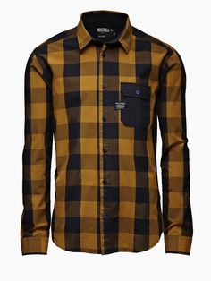 Red Amp Black Buffalo Check Flannel Shirt By Scotch And