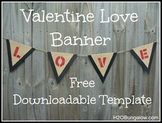 Valentine Banner With Free Downloadable Template