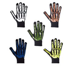 Grenade Bones Knit Gloves 100% Acrylic Silicone Graphic Print One Size Fits Most #Grenade #WinterGloves