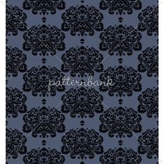 Denim Damask Design by Nikky Starrett to license at Pattern Bank!