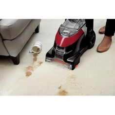 Bissell Bissell ProHeat® Essential Upright Carpet Cleaner | Wayfair Deep Carpet Cleaning, How To Clean Carpet, Deep Cleaning, Two Dogs, Carpet Cleaners, Water Tank, Washi, Really Cool Stuff, Pets