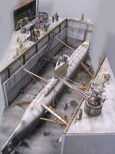 Das XXIII im Dock-fertig! Gesamtgröße des Dioramas 80x50cm