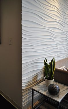 Textured modular walls are my crave of the month.