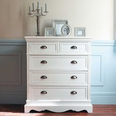 commode 5 tiroirs blanche