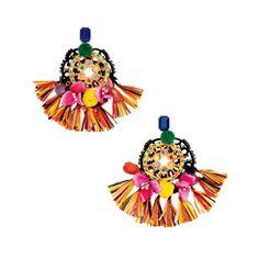 Boucles d'oreilles en raphia, de #Dolce & #Gabbana. Prix: 1235$. Info: dolcegabbana.com