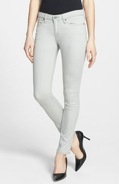 Colored denim with tonal stitching lends a clean look to jeans infused with leg-hugging stretch. Color(s): light dove, sergeant blue. Brand: Joie. Style Name: Joie Stretch Denim Skinny Jeans. Style Number: 980937.