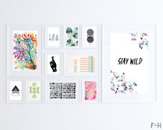 33 more free modern art printables