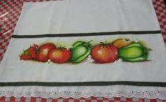 Resultado de imagem para pintura em tecido pimentão