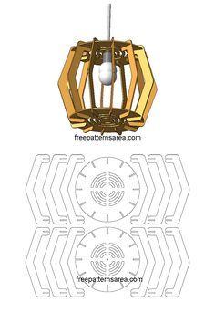 Laser Cut Wooden Cardboard Chandelier Pattern