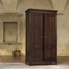 Louis XVI Armoire - in distressed blue gray