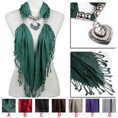 new sparkle heart pendant scarf,crystal stone jewelry scarf,winter scarf NL-2144 #Scarf