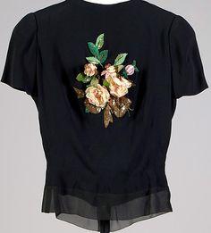 Schiaparelli - Corsage - Soie, Sequins et Fleurs Artificielles - 1938