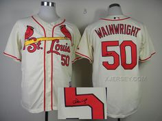 http://www.xjersey.com/cardinals-50-wainwright-cream-signature-edition-jerseys.html CARDINALS 50 WAINWRIGHT CREAM SIGNATURE EDITION JERSEYS Only 33.11€ , Free Shipping!