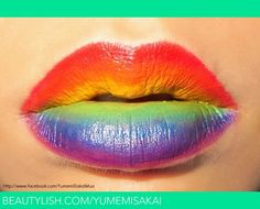 Rainbow Lips   Yumemi S.'s (yumemisakai) Photo   Beautylish