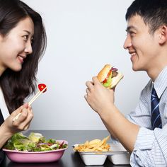 There's a trick to eating healthy when you're partner doesn't: http://www.womenshealthmag.com/weight-loss/how-to-eat-healthy?cm_mmc=Pinterest-_-womenshealth-_-content-weightloss-_-eathealthywhenpartnerdoesnt